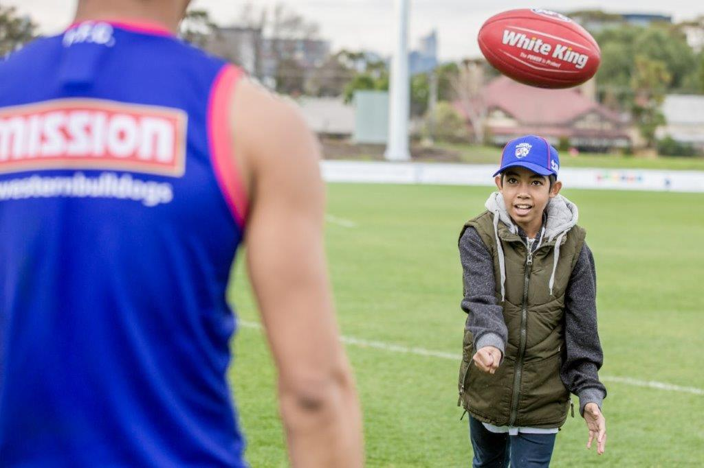 Paulo and Western Bulldogs - photo credit Mat Lynn