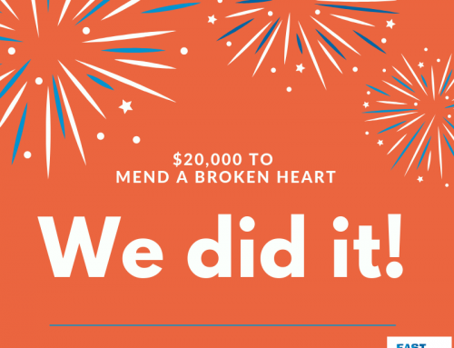 We did it! $20,000 raised to mend a broken heart!