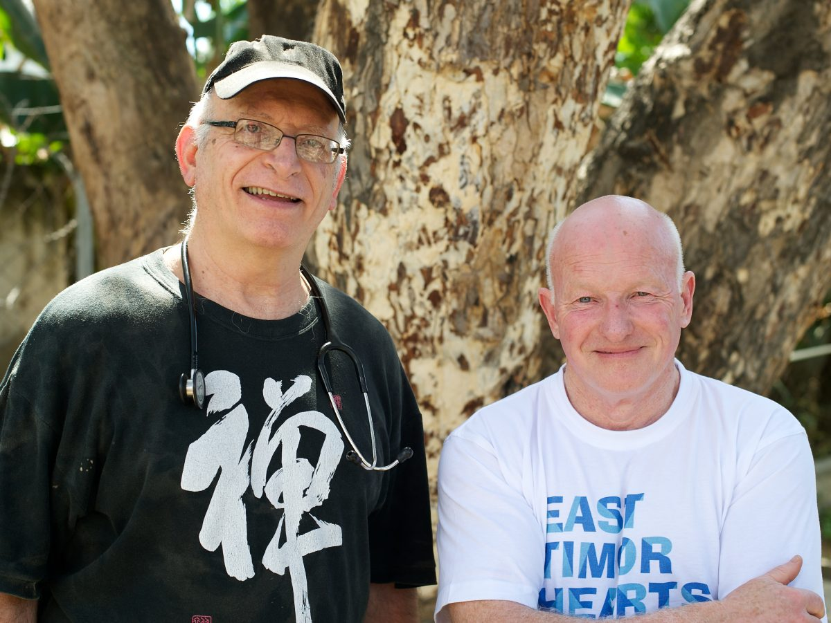 Dr Dan Murphy and ETHF co-founder and Honorary Medical Adviser Dr Noel Bayley