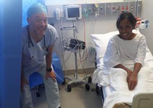 Post surgery Anina and Dr Simon Eggleton