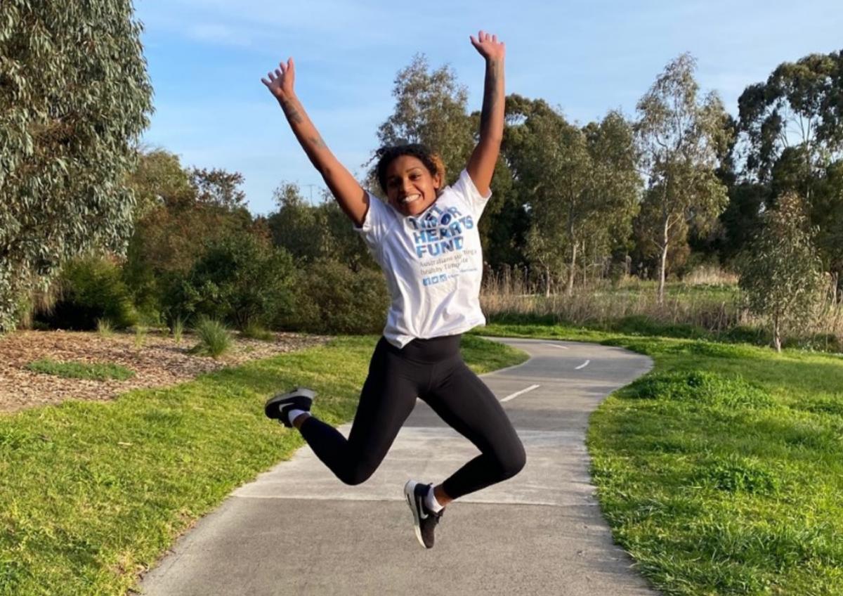 Tina for Virtual Run Melbourne